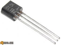 78L10 stabilizátor +10V/0,1A TO92