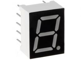 Zobrazovač LED jednomístný 7-segmentový 9,9mm jantarový