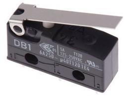 Mikrospínač ON-ON 1pol.250V/6A s páčkou CHERRY DB1 *