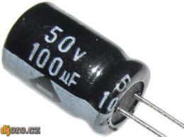 100u/50V elektrolyt.kond.radiál.8x12x3,5