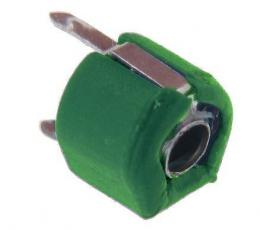 Kapacitní trimr 6,2-30pF, průměr 6mm, zelený