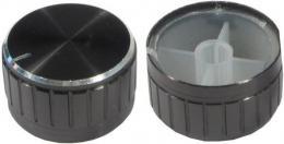 Přístrojový knoflík 18T 30x17mm, hřídel 6mm černý