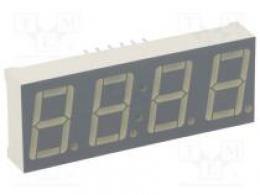 Zobrazovač LED sedmisegmentový 14mm červená 1,2-6,4mcd 0,56