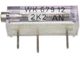 WK67912 - 1M0, cermetový trimr 16 otáček
