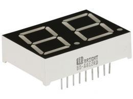 LED DISPLAY 20MM GREEN L-BD-A812RD