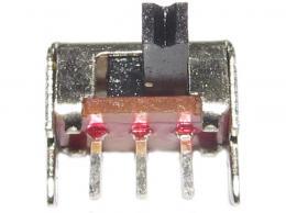 Přepínač posuvný ON-ON 1pol.50V/0,5A úhlový