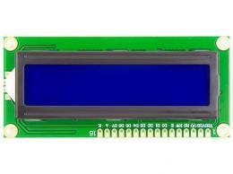Displej LCD1602, 16x2znaků, modré podsvícení