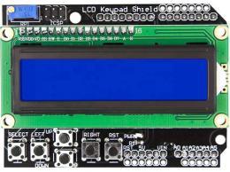 Displej LCD1602 s klávesnicí, 16x2znaků, modré podsvícení