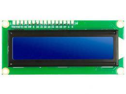 Displej LCD1602 I2C, 16x2znaků, modré podsvícení