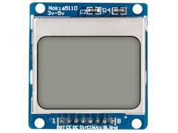 Displej LCD 84x48 znaků, Nokia5110, modré podsvícení