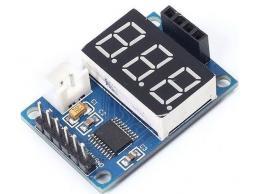 Řídící jednotka a displej pro ultrazvukový měřič vzdálenosti HC-SR04