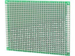 Univerzální DPS 7x9cm, 806p, RM2,54mm, vrtaná, cínovaná