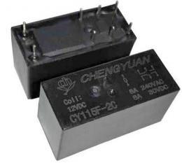 Relé CY115F-2C 12VDC, 2x přep.kontakt 250V/8A