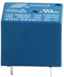 Relé Songle SRD-05VDC-SL-C 5V, přepínací kontakt 250VAC/10A
