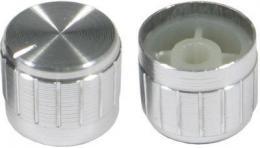 Přístrojový knoflík 18T 21x17mm, hřídel 6mm stříbrný