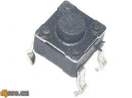 Mikrospínač 4,5x4,5mm v3,8mm