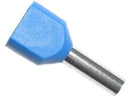 Dutinka pro dva kabely 2,5mm2 modrá (TE2,5-10) *