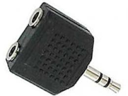 Redukce JACK 3,5 stereo konektor / 2x JACK 3,5 stereo zdířka *