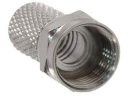 F konektor na koax 6mm šroubovací (RG59) *