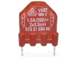 Odrušovací tlumivka 2x 3,3mH - 250V/1,5A