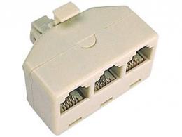 Telefonní rozbočení 6P4C 1x male/3x female