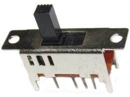 Přepínač posuvný ON-ON-ON 1pol.50V/0,5A typ B