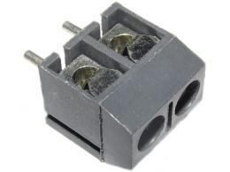 Svorkovnice do DPS 2pin šroubovací RM 5mm v=10mm - šedá