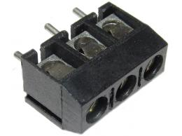 Svorkovnice do DPS 3pin šroubovací RM 5mm v=10mm - černá