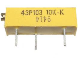 PM19K10K H - trimr víceotáčkový ležatý 10K Ohm lineární