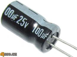 100u/25V Jamicon elektrolyt. kond. radiál. 6,5x12x3