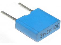3n3/100V TC351-svitkový kondenzátor radiální