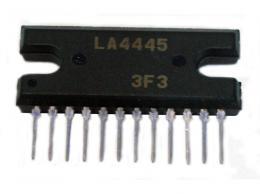 LA4445 - NFzesilovač 2x5.5W, 13,2V, SIL12