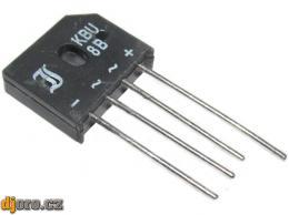 KBU8B - diodový můstek 70V~/8A drát