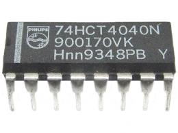 74HCT4040 12stupňový dvojkový čítač
