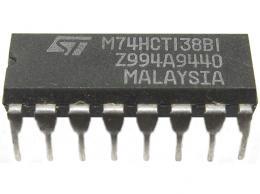 74HCT138 - 3bit bin. dekodér/deMX DIP16