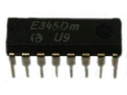 E345D - dekodér pro sedmisegmentový LED displej DIP16