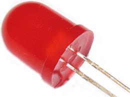 LED 10mm červená rozptylka 103ID